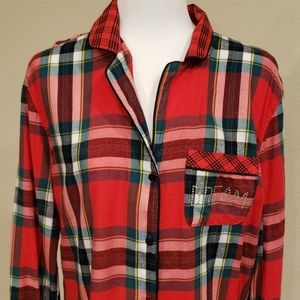 VICTORIA'S SECRET Nightgown Plaid Small